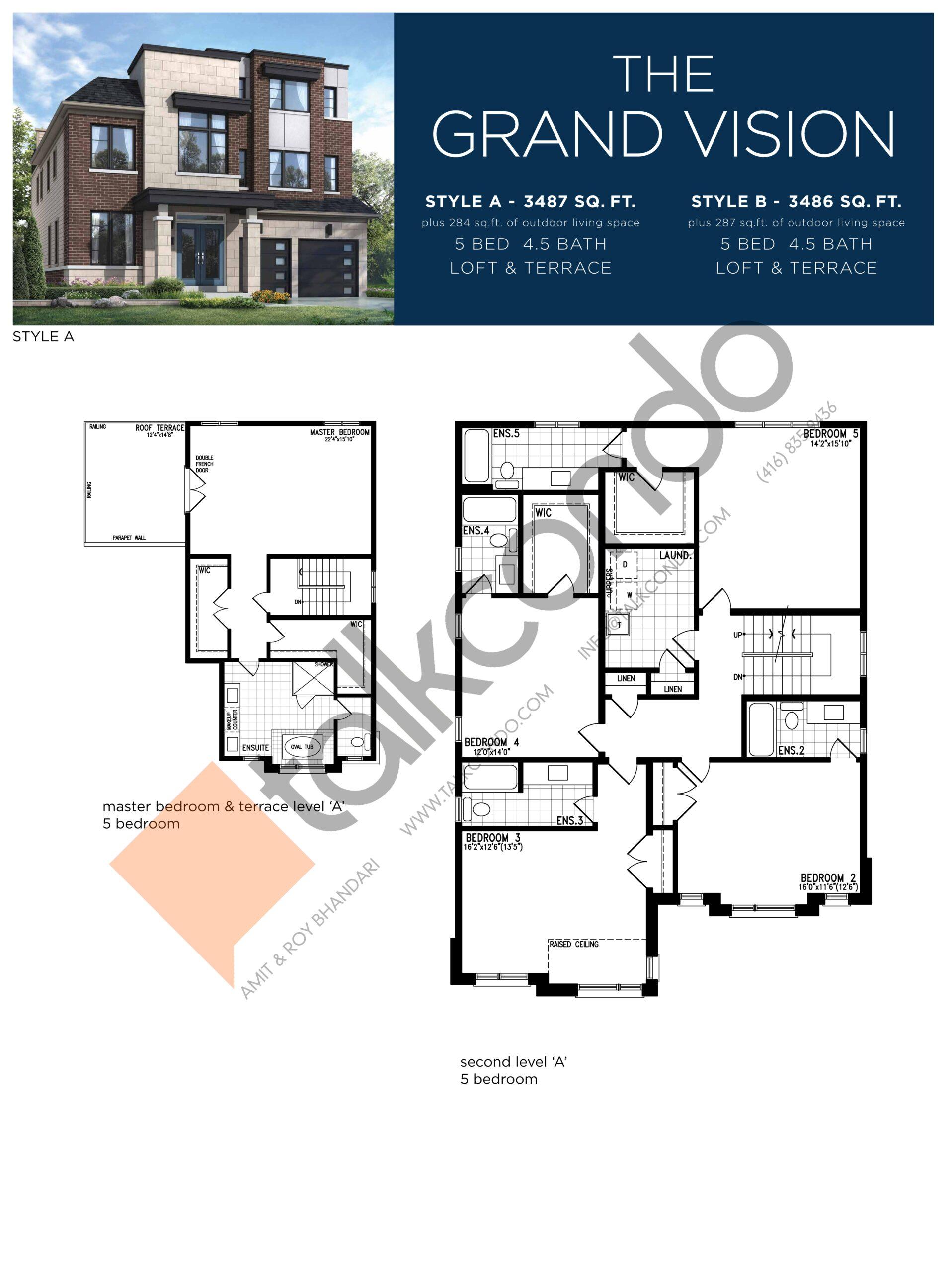The Grand Vision (3/3) Floor Plan at Lake Breeze - 3487 sq.ft