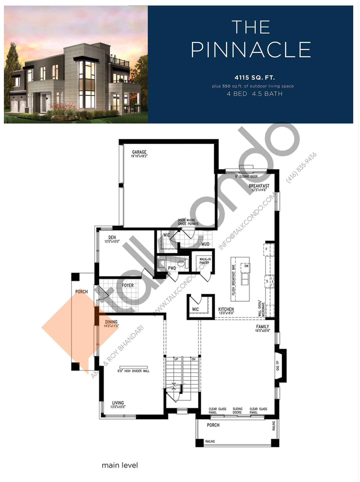 The Pinnacle (2/3) Floor Plan at Lake Breeze - 4115 sq.ft
