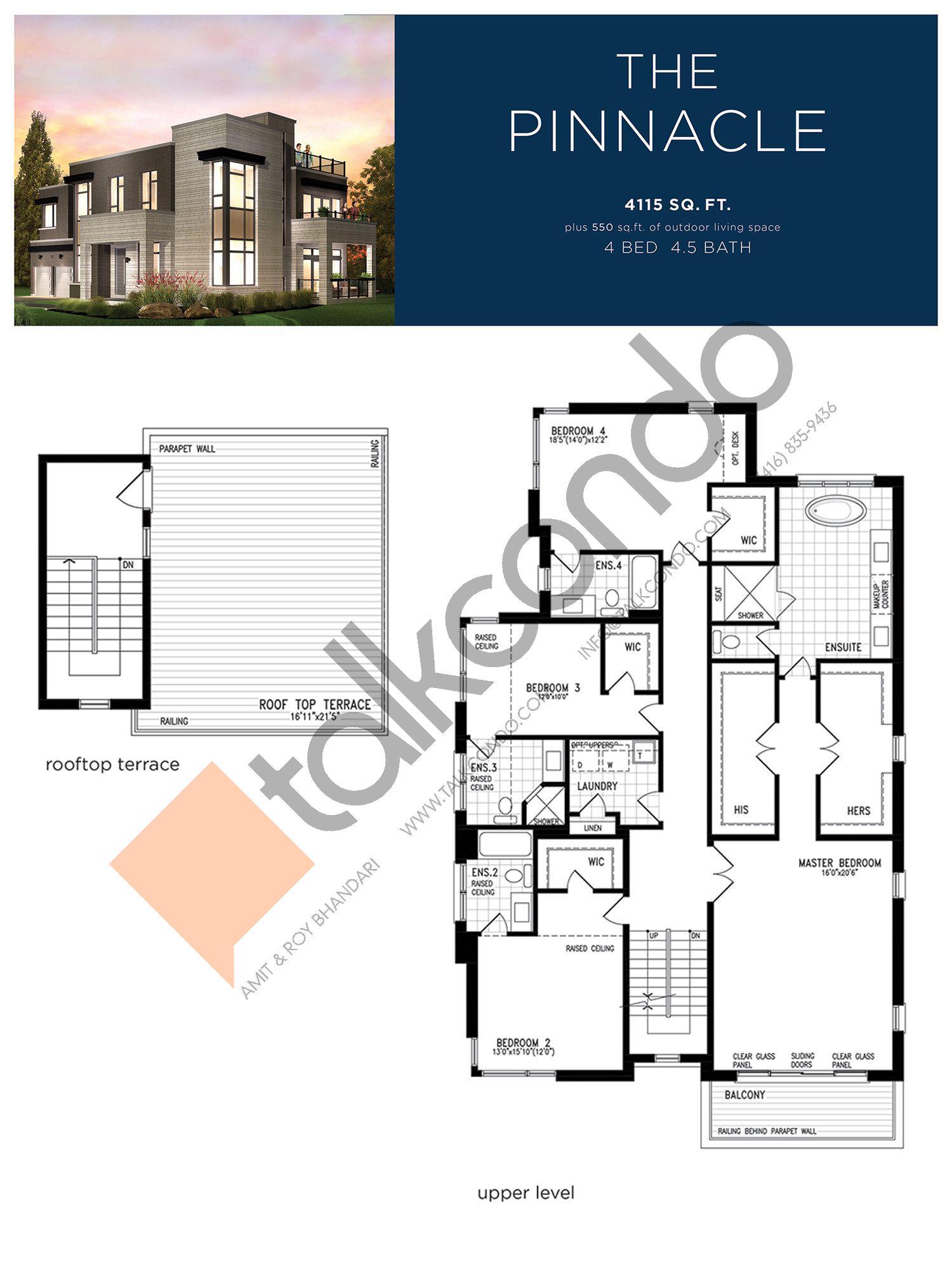 The Pinnacle (3/3) Floor Plan at Lake Breeze - 4115 sq.ft