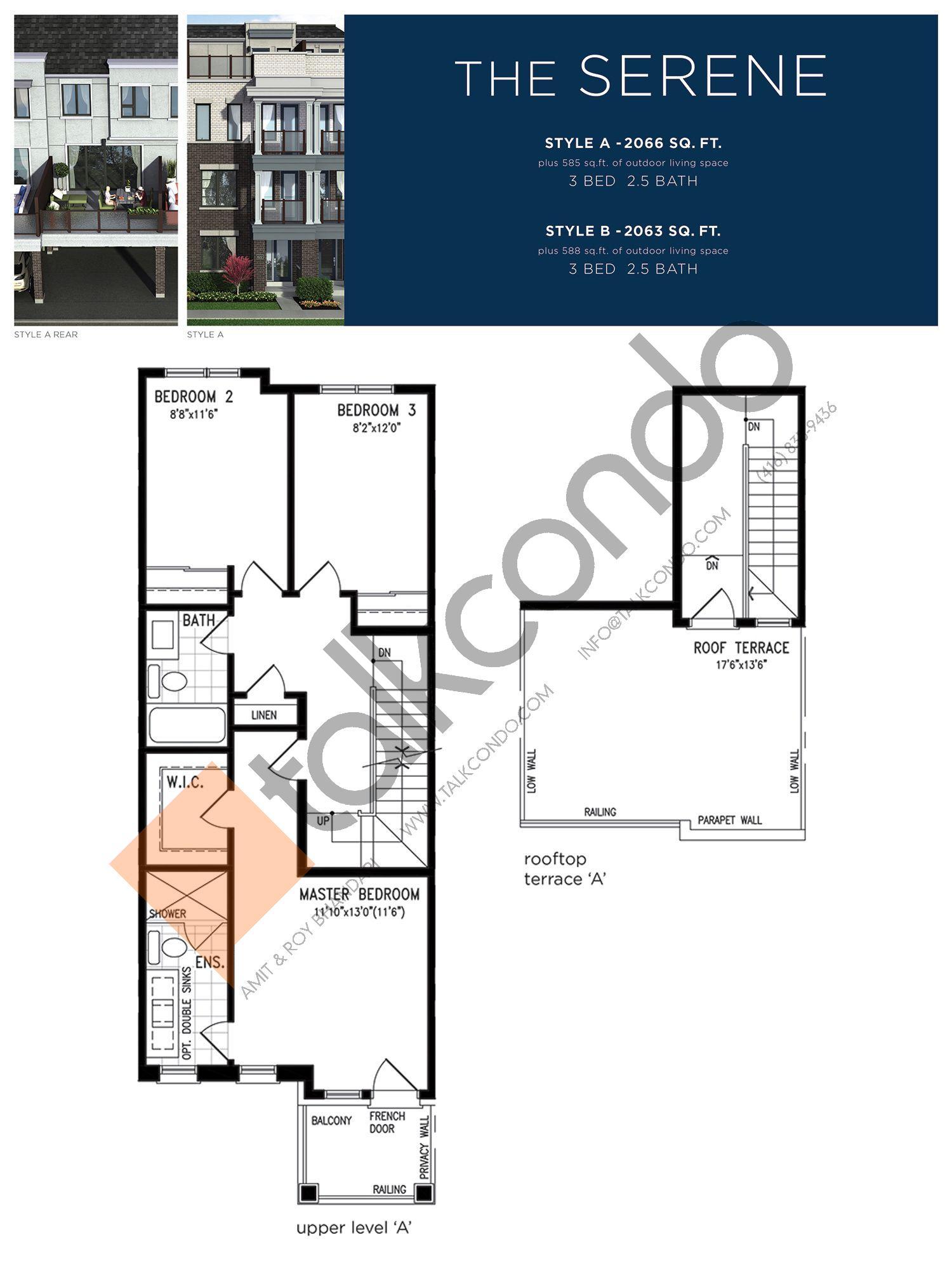The Serene (3/3) Floor Plan at Lake Breeze - 2066 sq.ft