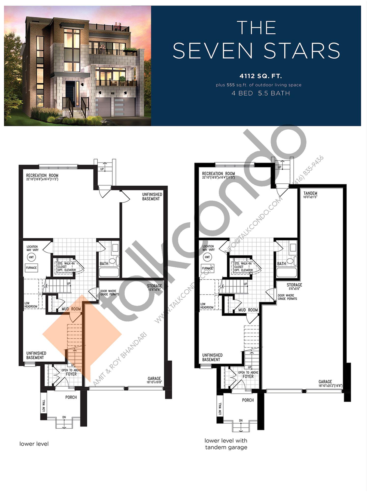 The Seven Stars (1/3) Floor Plan at Lake Breeze - 4112 sq.ft