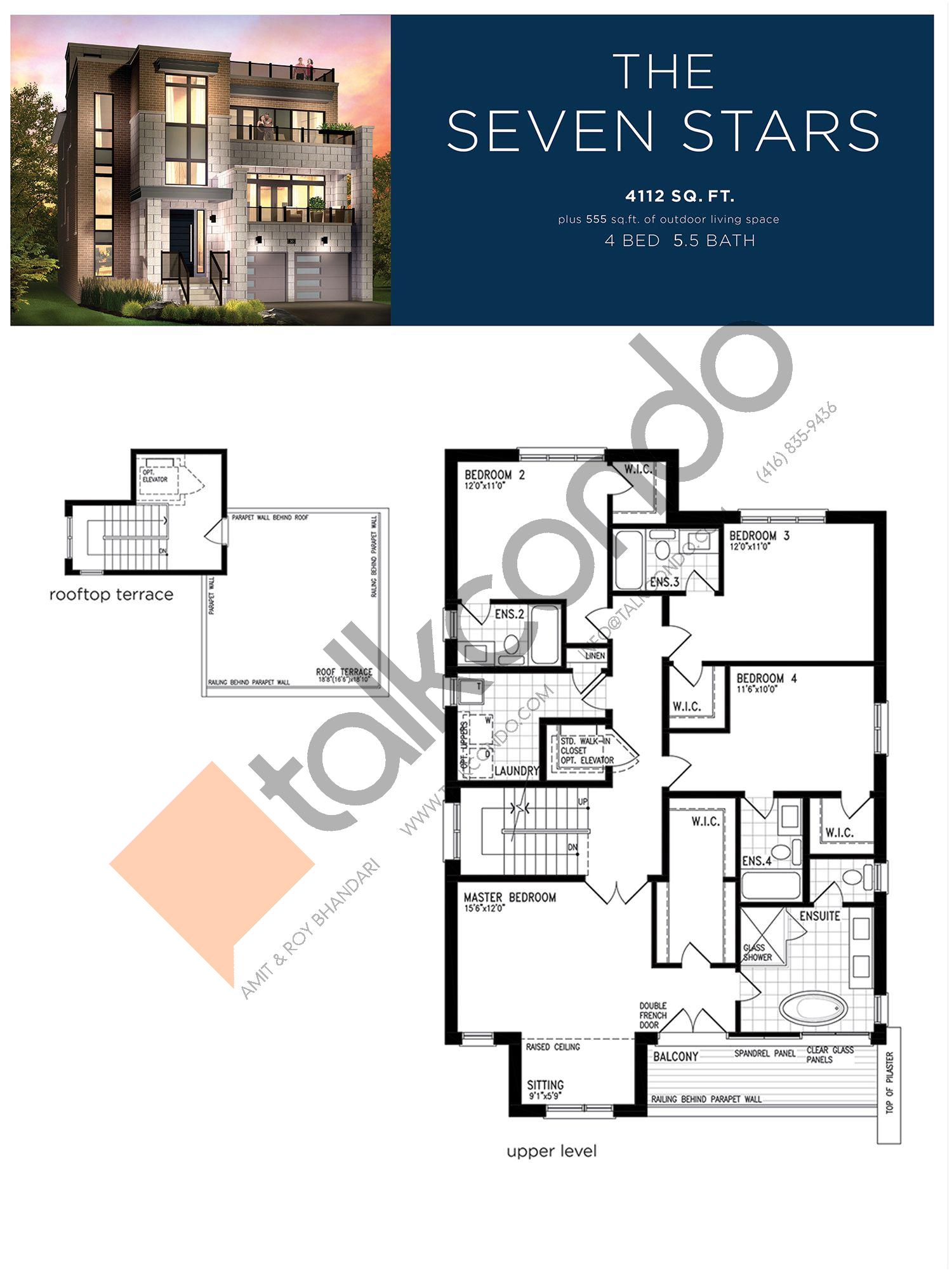 The Seven Stars (3/3) Floor Plan at Lake Breeze - 4112 sq.ft