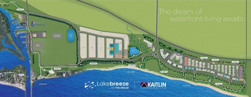 Lake Breeze Site Map