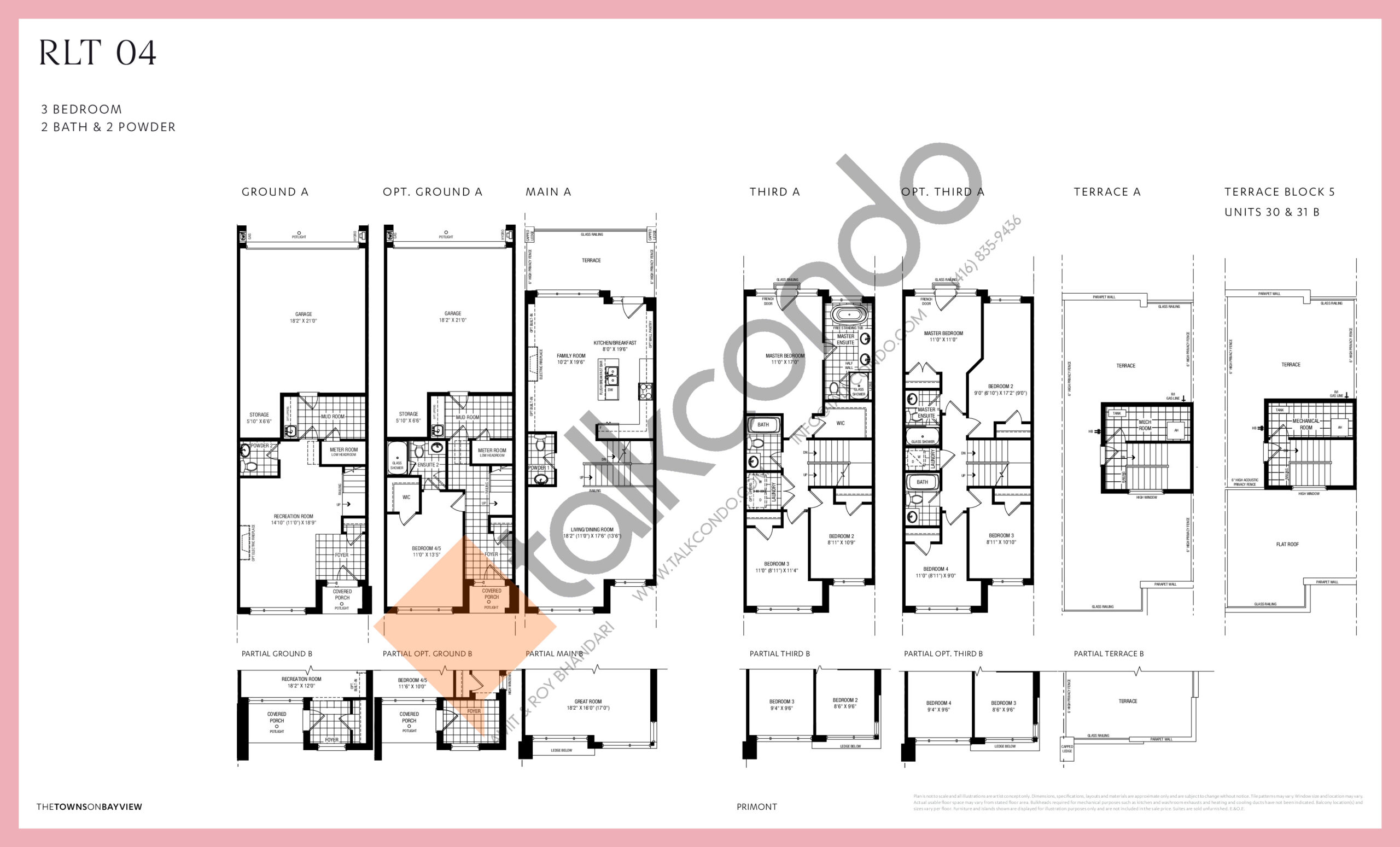 RLT 04 Floor Plan at The Towns on Bayview - 2392 sq.ft