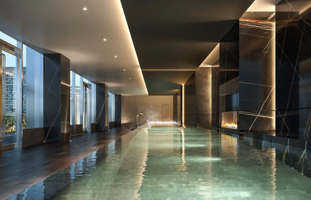 11YV Condos Indoor Infinity Pool