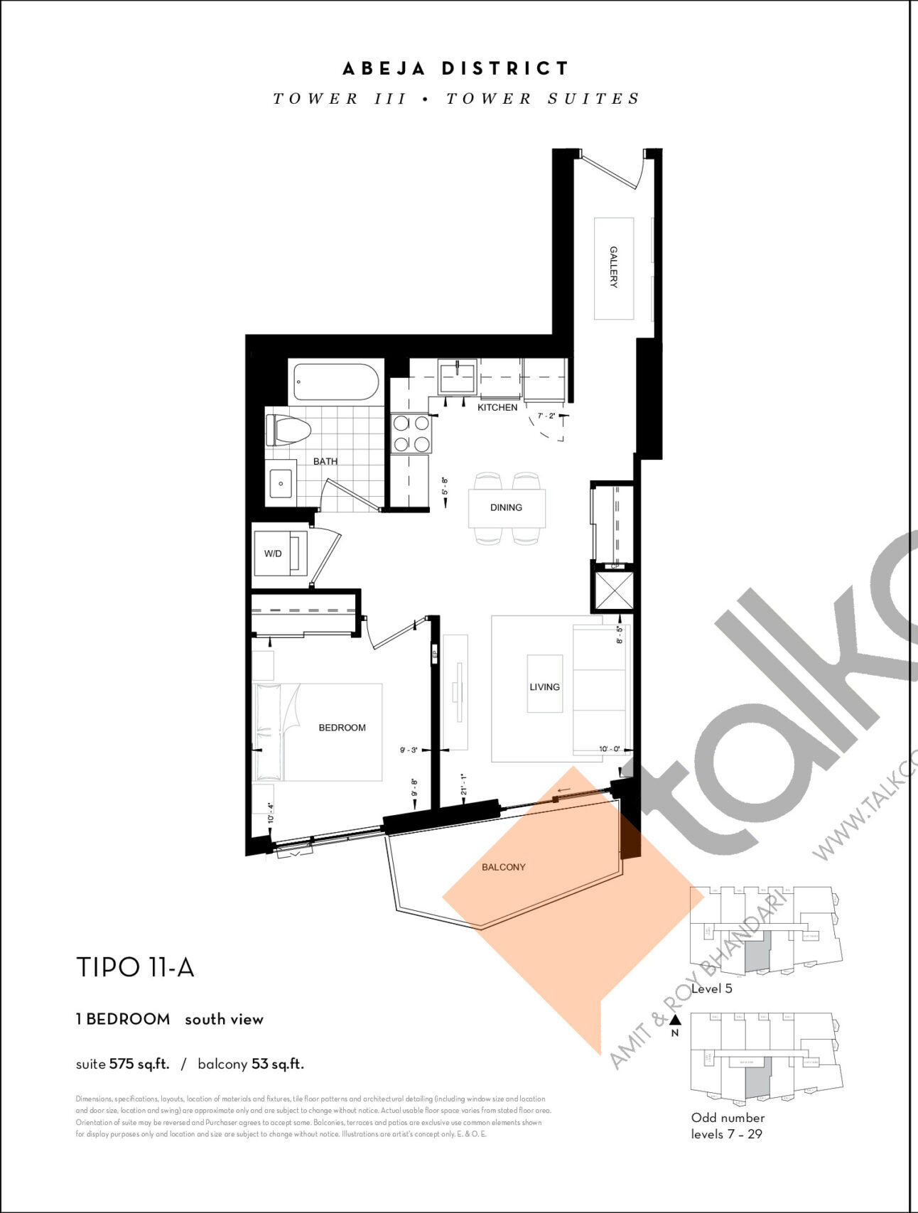 TIPO 11-A Floor Plan at Abeja District Condos Tower 3 - 575 sq.ft
