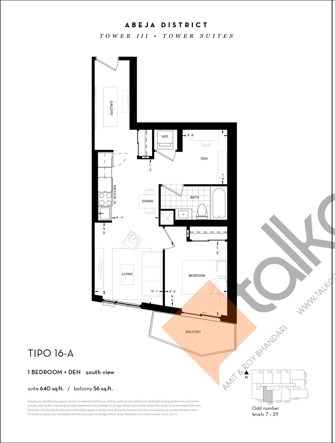 TIPO 16-A Floor Plan at Abeja District Condos Tower 3 - 640 sq.ft