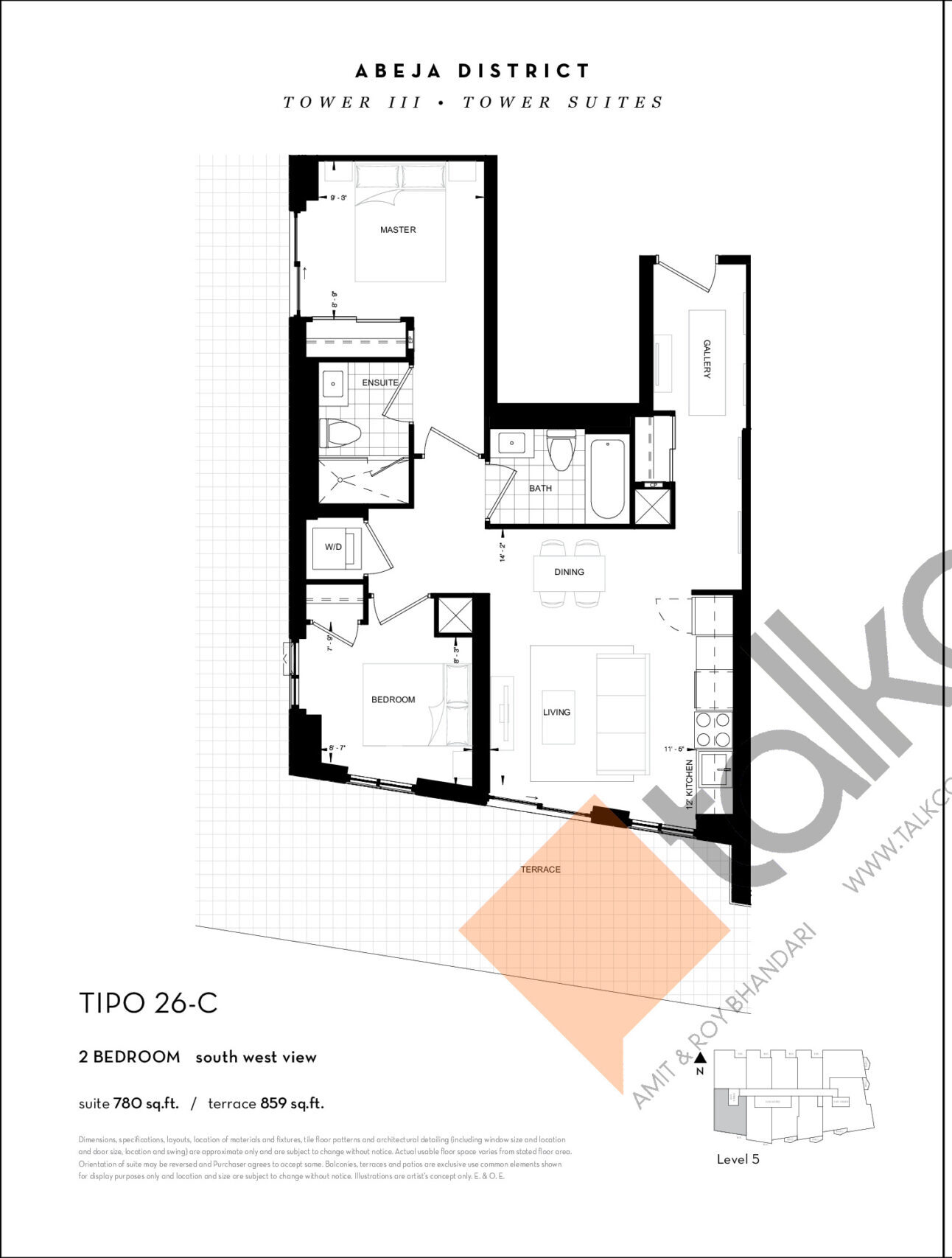 TIPO 26-C Floor Plan at Abeja District Condos Tower 3 - 780 sq.ft
