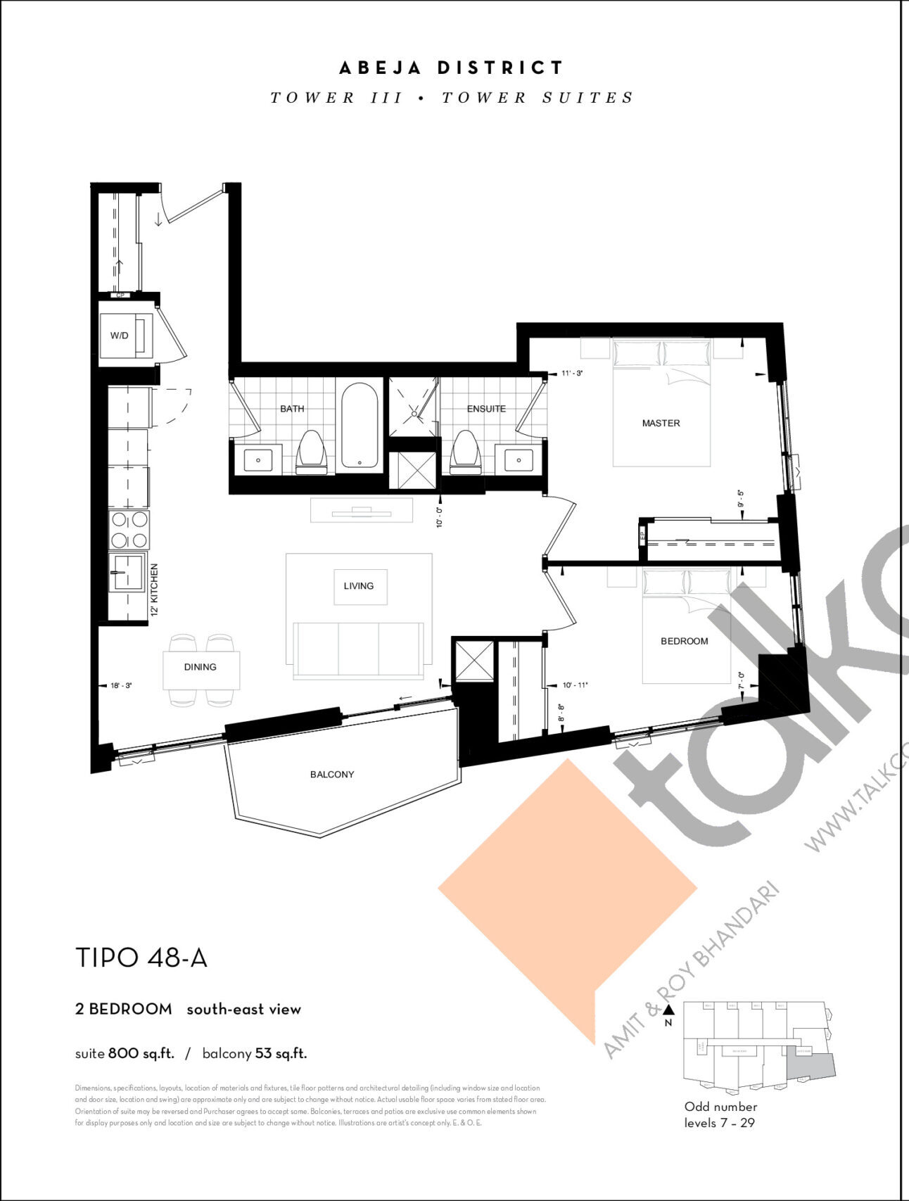 TIPO 48-A Floor Plan at Abeja District Condos Tower 3 - 800 sq.ft
