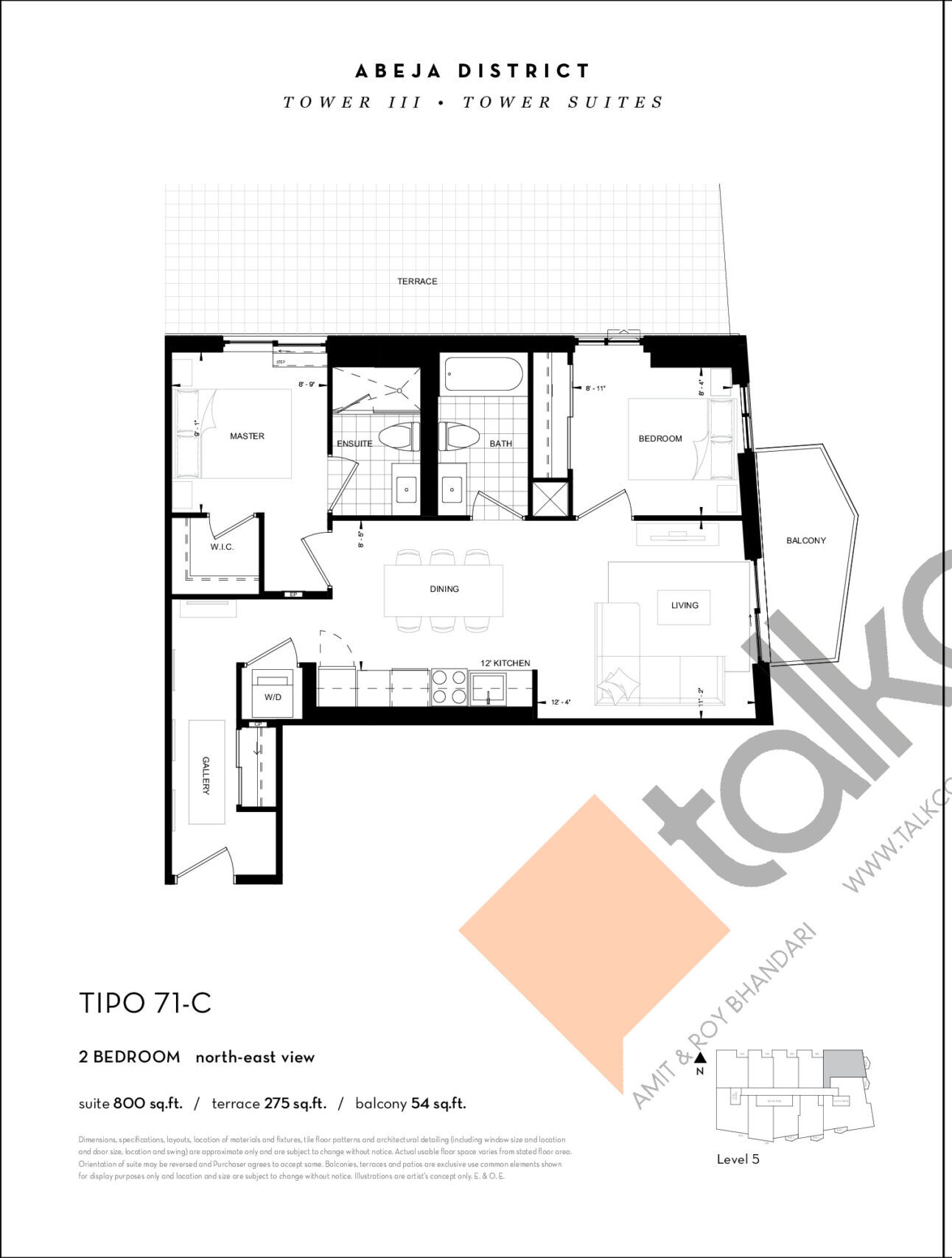 TIPO 71-C Floor Plan at Abeja District Condos Tower 3 - 800 sq.ft