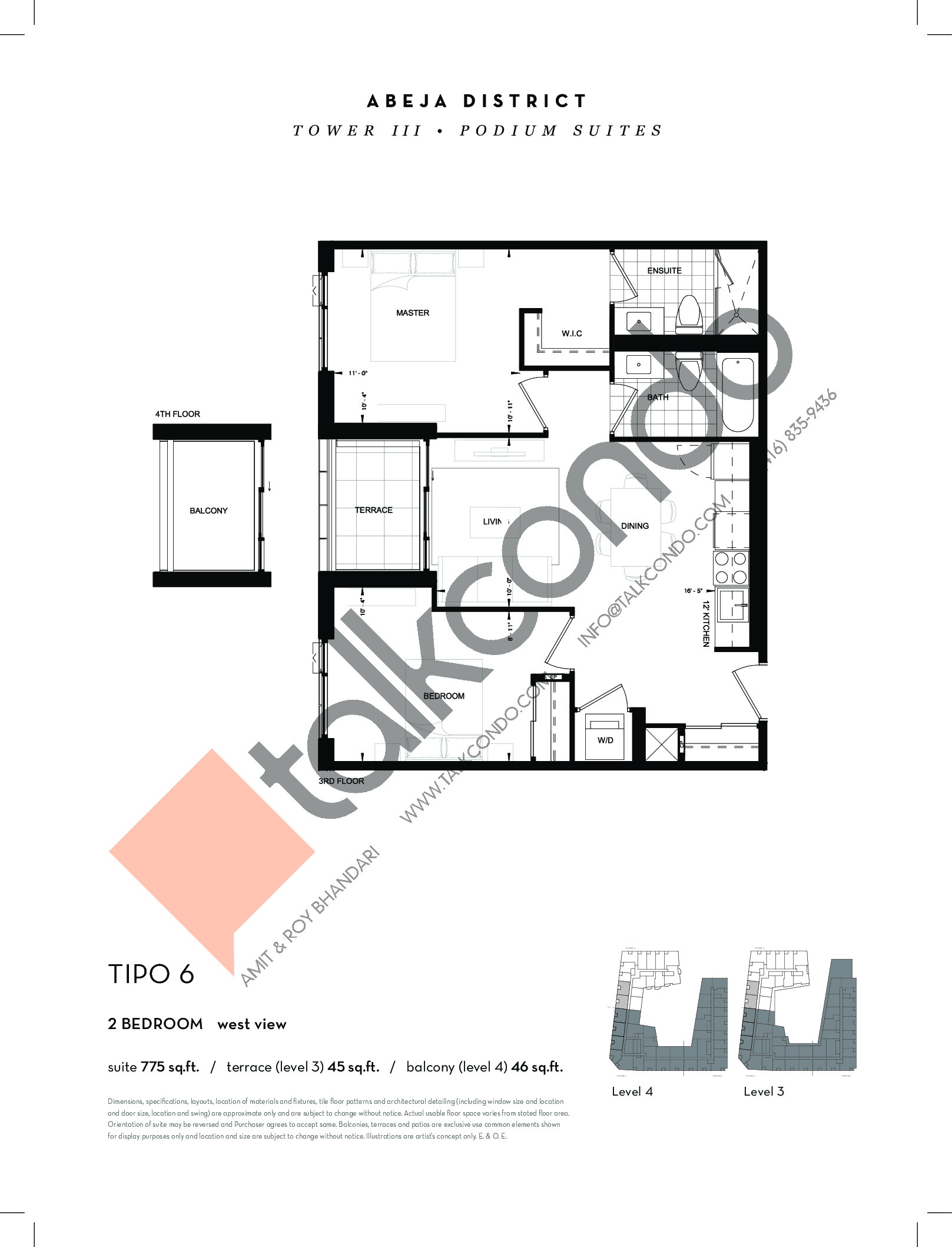 TIPO 6 Floor Plan at Abeja District Condos Tower 3 - 775 sq.ft