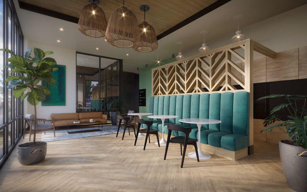 Elevate Condos Lounge Area