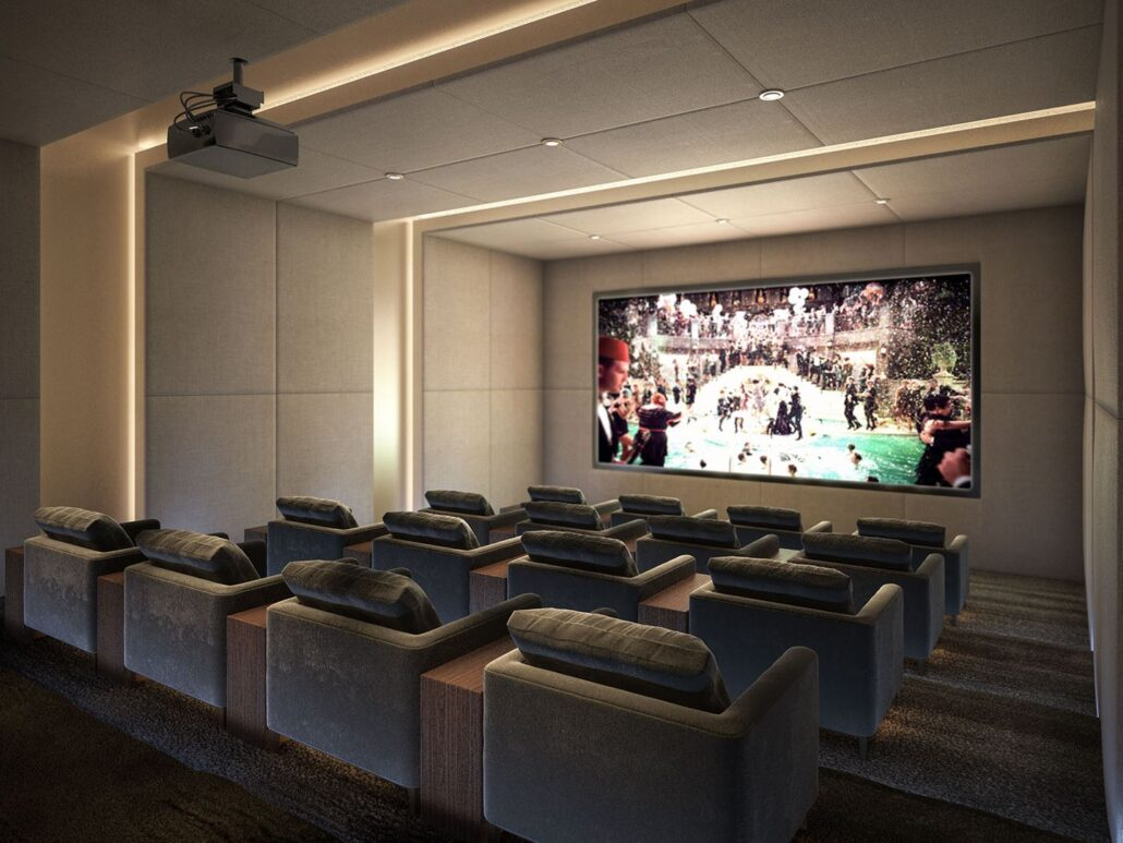 The Lakefront Condos Theatre Room