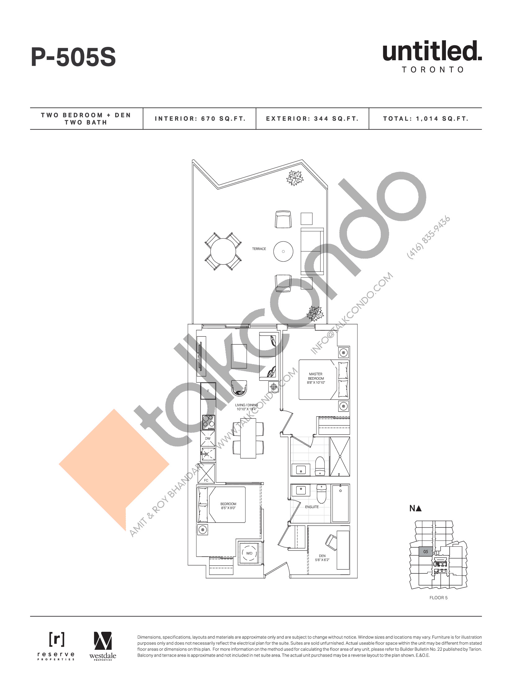 P-505S Floor Plan at Untitled Toronto Condos - 670 sq.ft