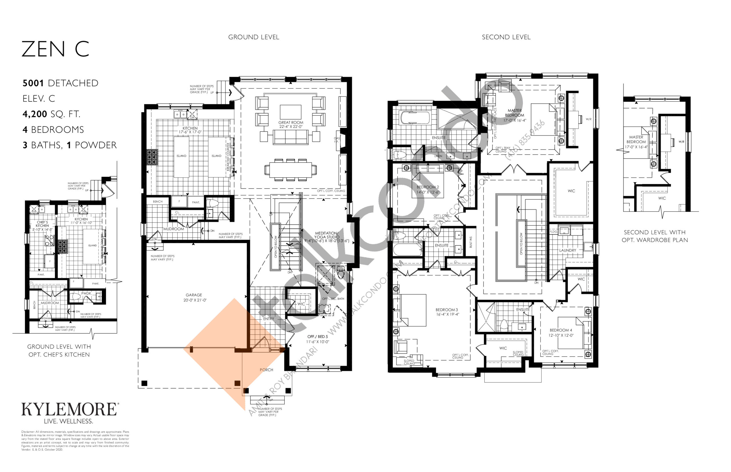 Zen C - Elev. C Floor Plan at Angus Glen South Village - 4200 sq.ft