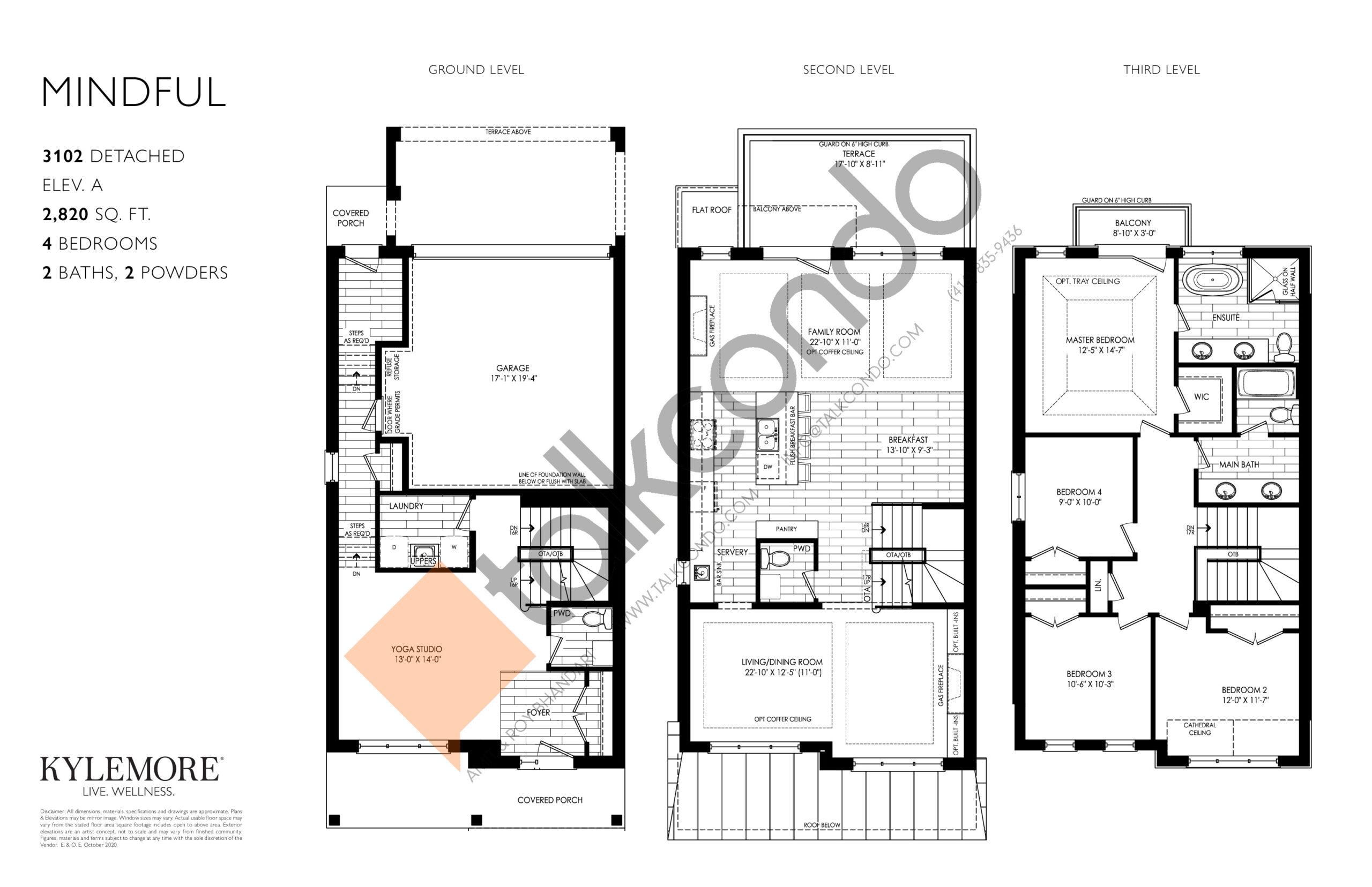Mindful Floor Plan at Angus Glen South Village - 2820 sq.ft