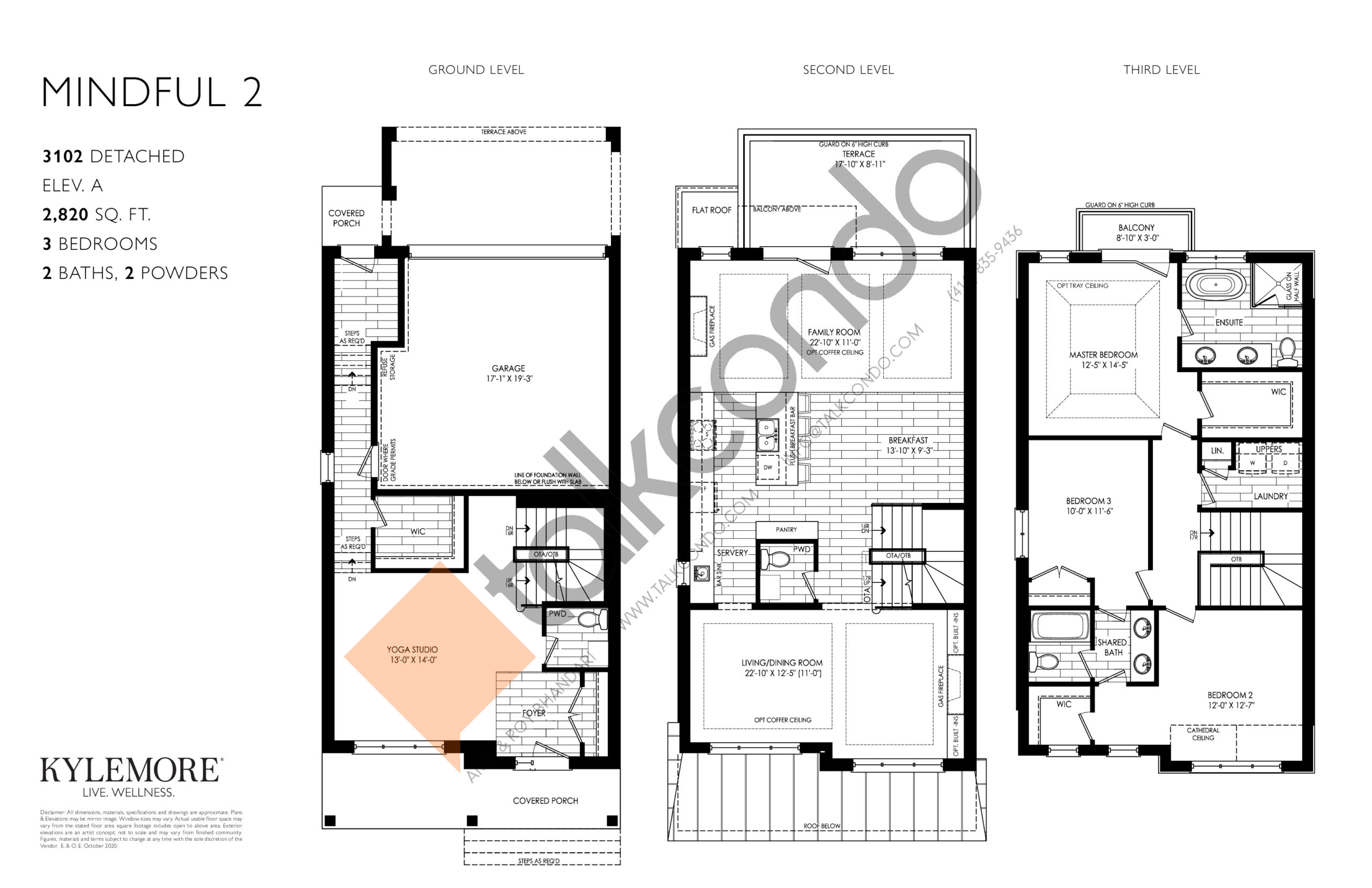 Mindful 2 Floor Plan at Angus Glen South Village - 2820 sq.ft