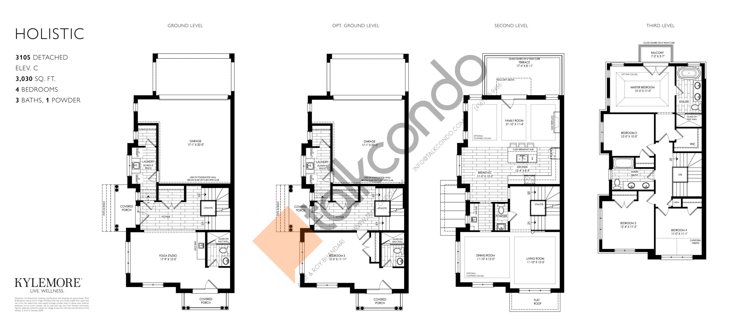 Holistic - Elev. C Floor Plan at Angus Glen South Village - 3030 sq.ft