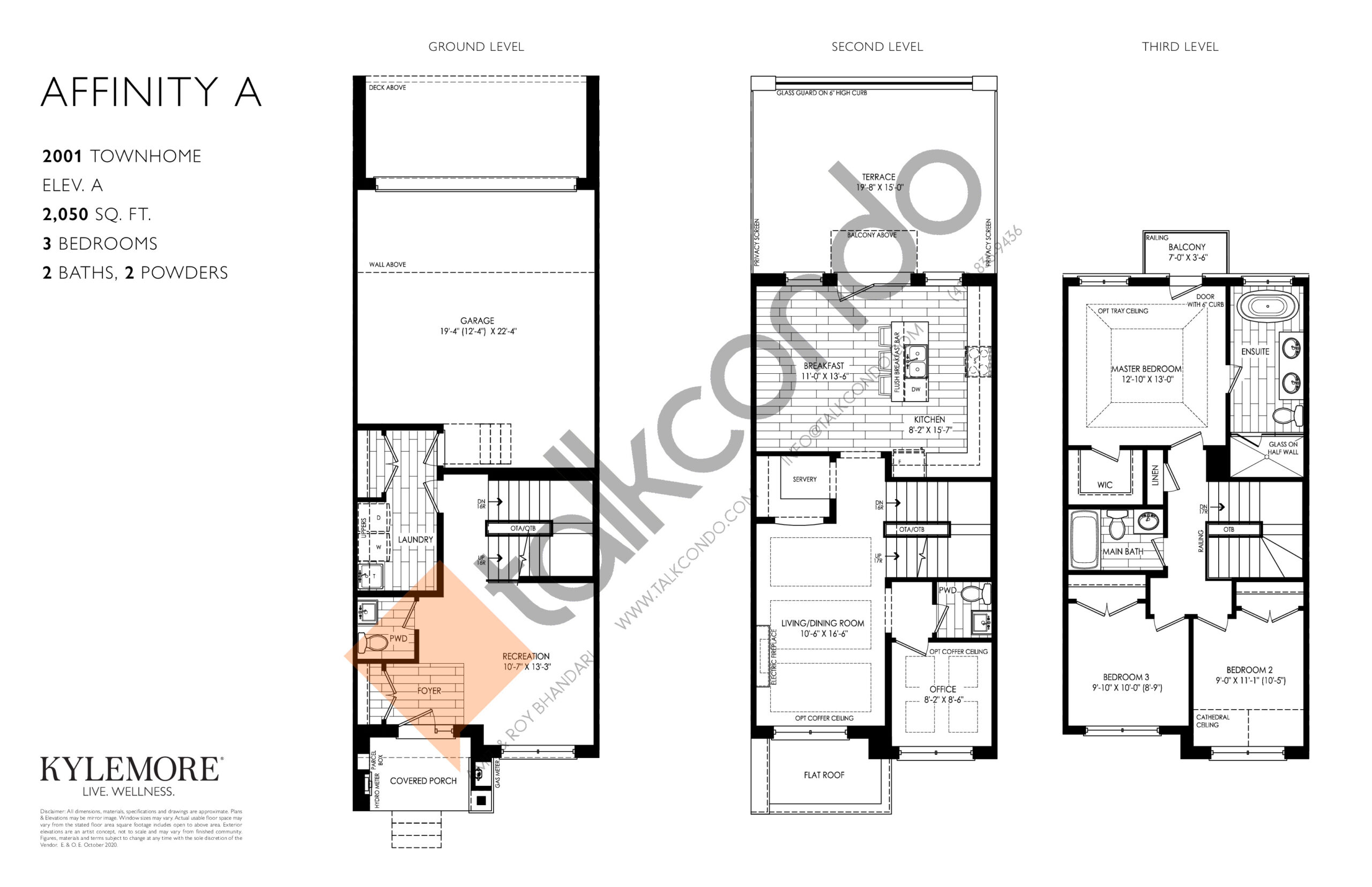 Affinity A Floor Plan at Angus Glen South Village - 2050 sq.ft