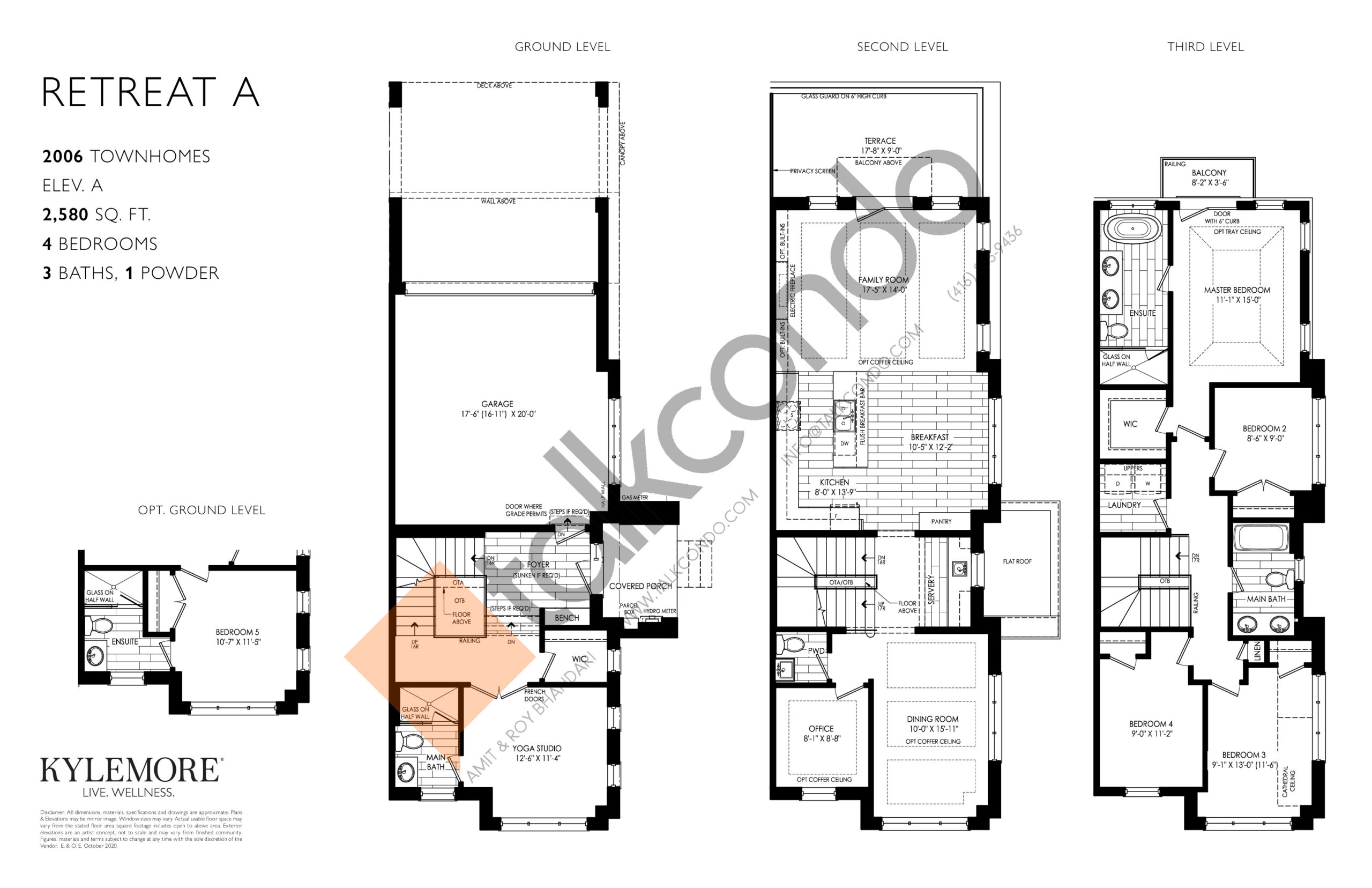 Retreat A Floor Plan at Angus Glen South Village - 2580 sq.ft