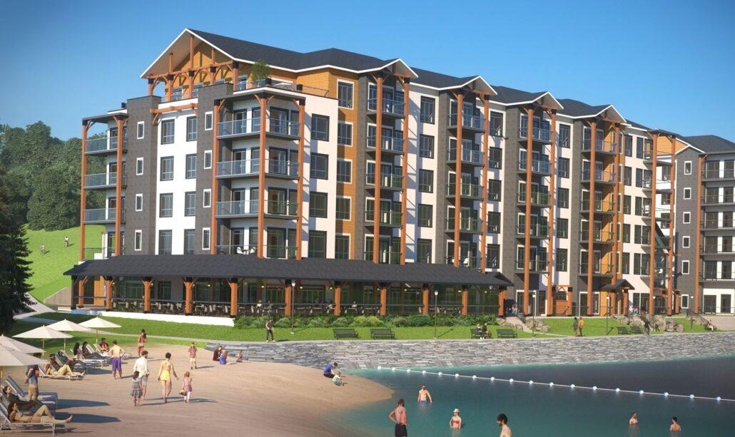 Edge Condos at Horseshoe Resort Exterior Rendering