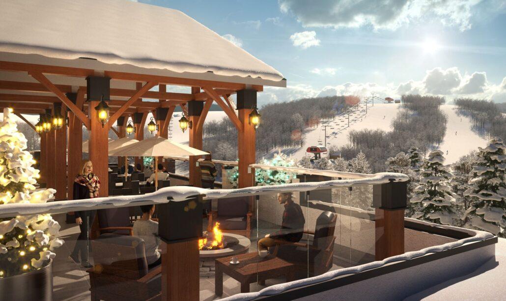 Edge Condos at Horseshoe Resort Rooftop Rendering