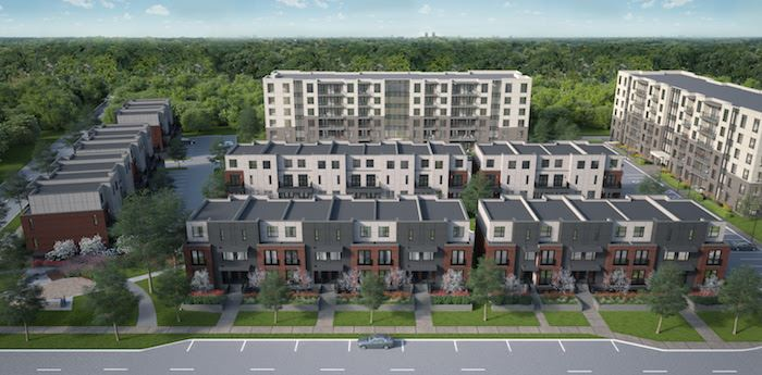 Spur Line Common Townhomes Rendering