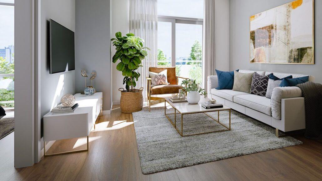The Boutique Collection at Trend Living Rendering Living Room