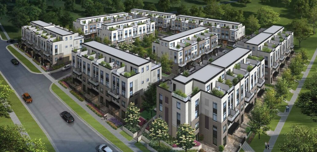 The Crawford Urban Towns Overview Rendering