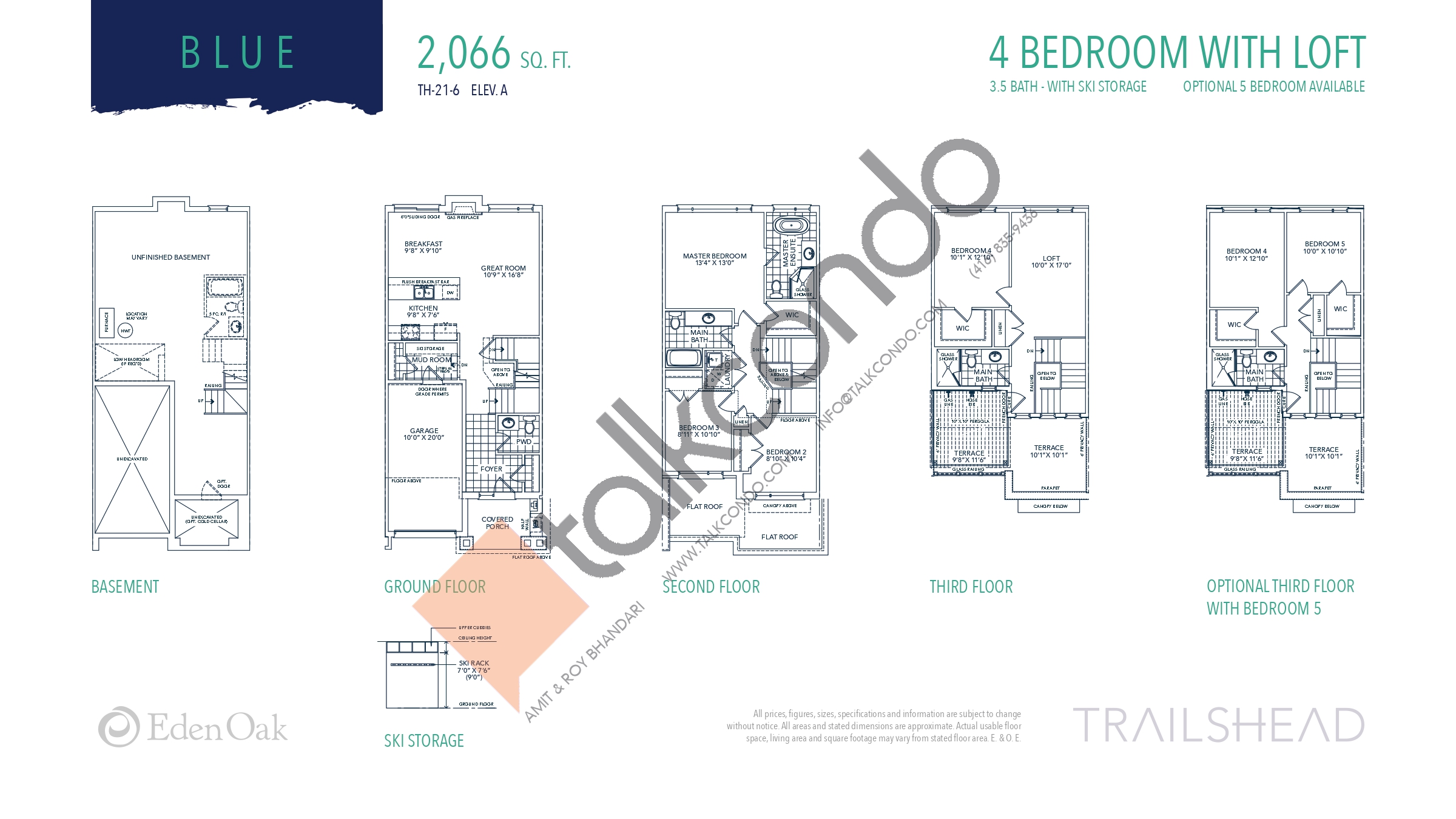 Blue Floor Plan at Trailshead Towns - 2066 sq.ft