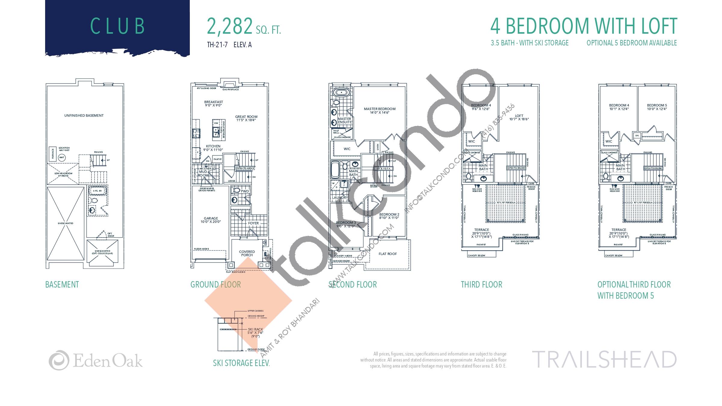 Club (1/2) Floor Plan at Trailshead Towns - 2282 sq.ft