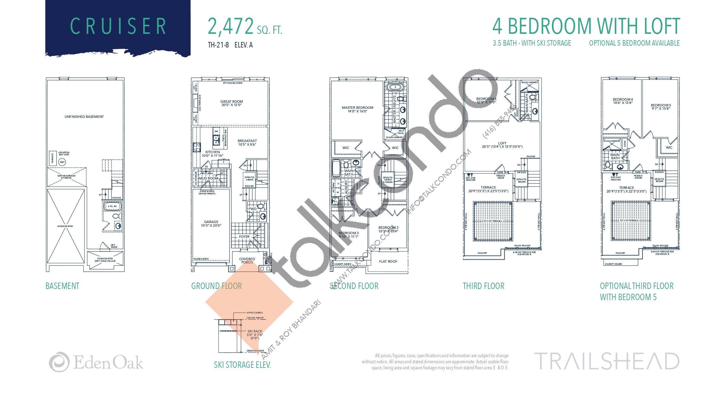 Cruiser (1/2) Floor Plan at Trailshead Towns - 2472 sq.ft