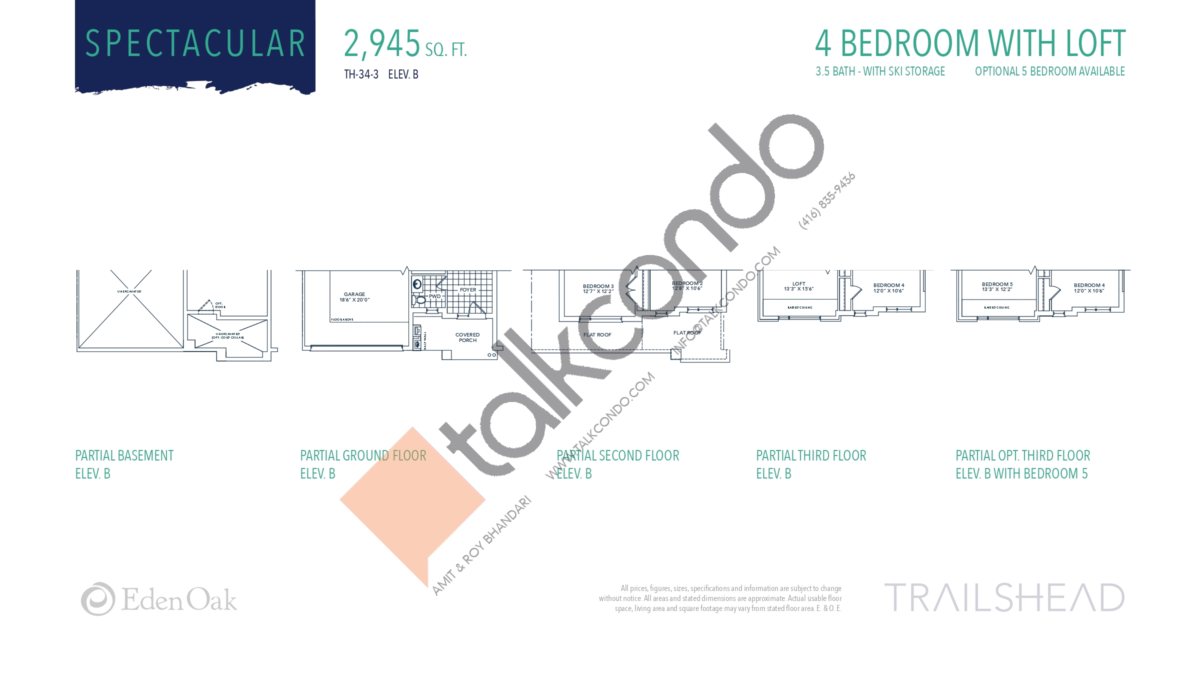 Spectacular (2/2) Floor Plan at Trailshead Towns - 2945 sq.ft