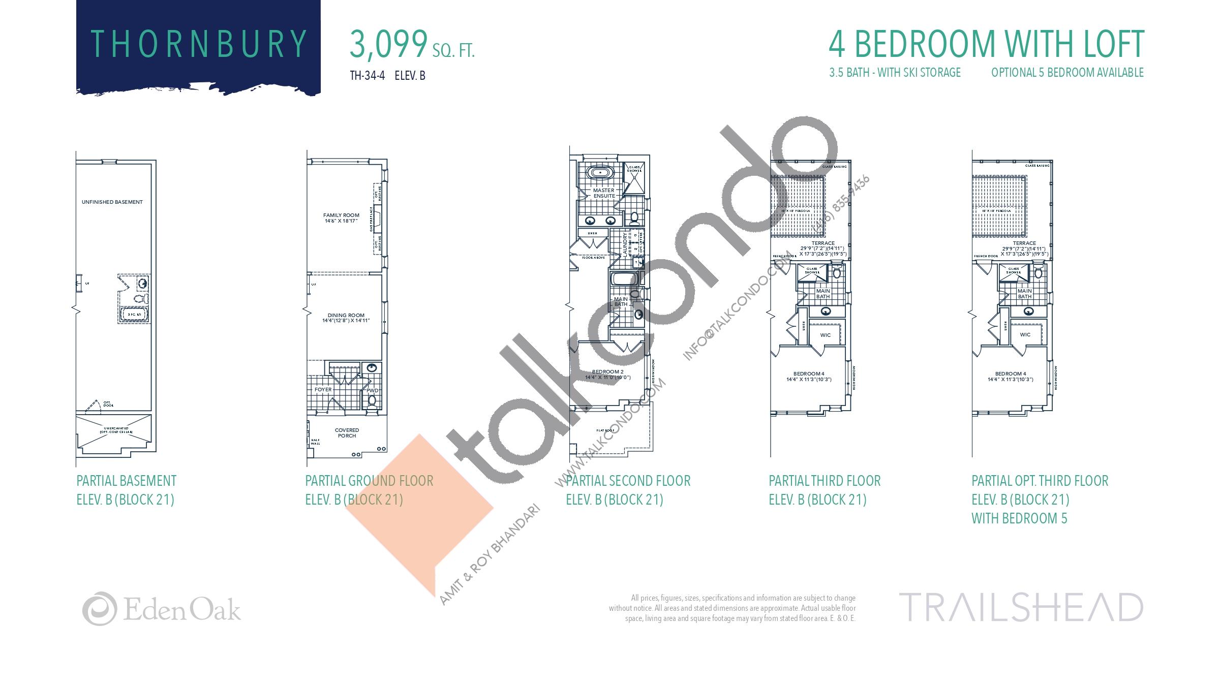 Thornbury (6/6) Floor Plan at Trailshead Towns - 3099 sq.ft