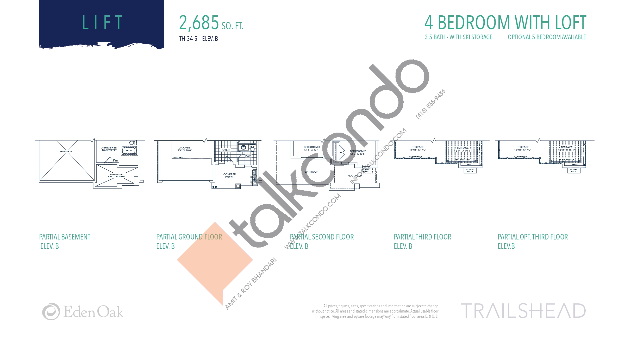 Lift (2/2) Floor Plan at Trailshead Towns - 2685 sq.ft