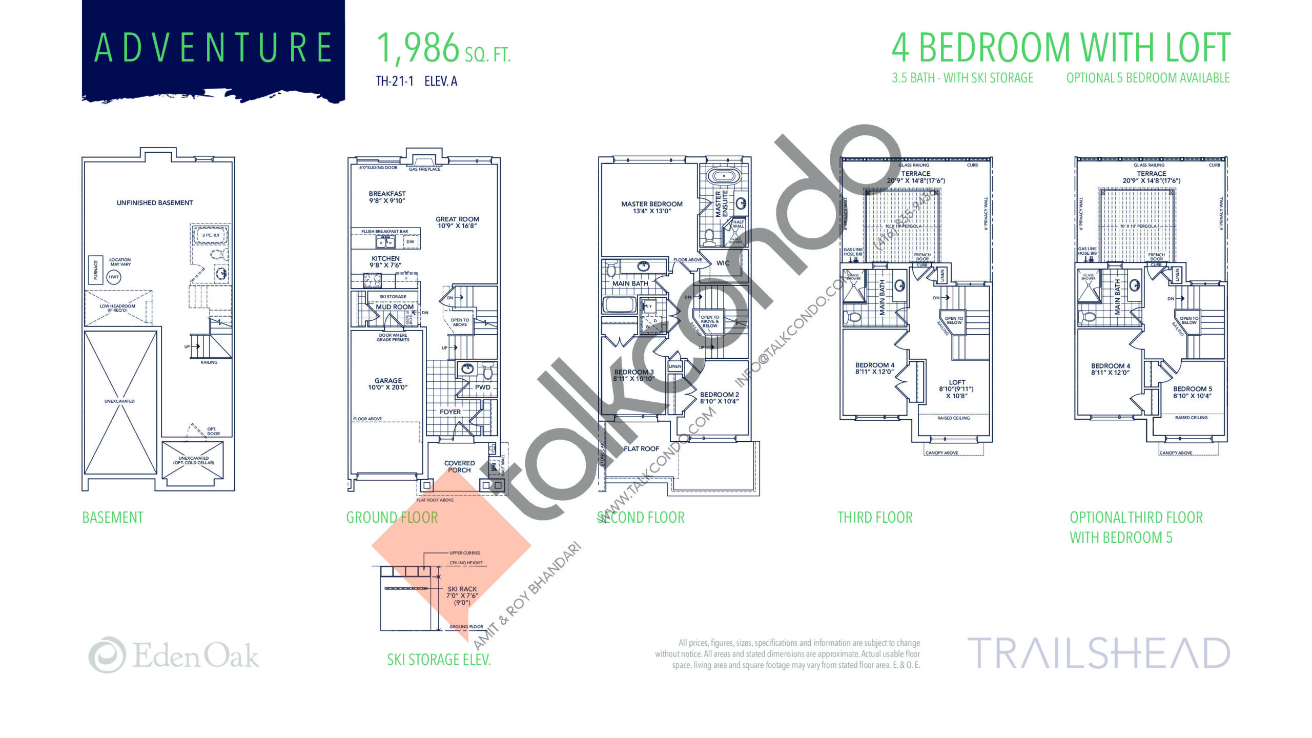 Adventure (1/2) Floor Plan at Trailshead Towns - 1986 sq.ft