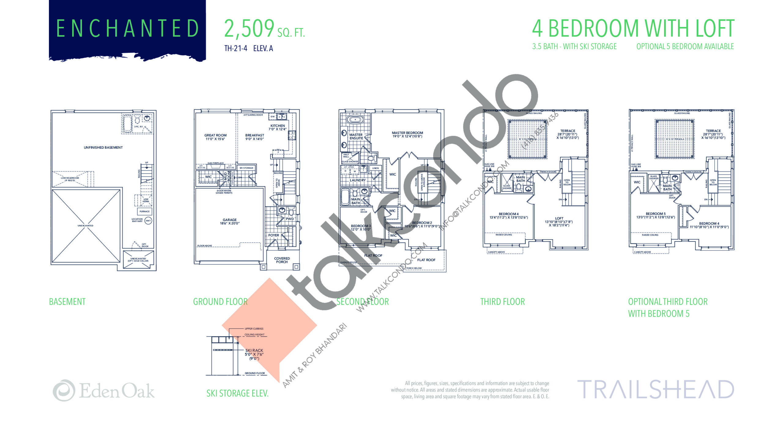 Enchanted (1/2) Floor Plan at Trailshead Towns - 2509 sq.ft
