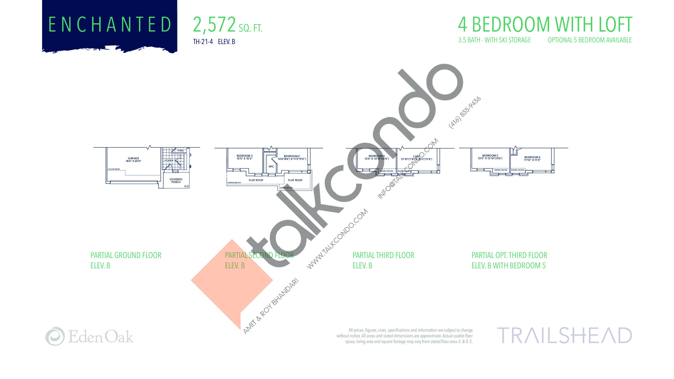 Enchanted (2/2) Floor Plan at Trailshead Towns - 2572 sq.ft