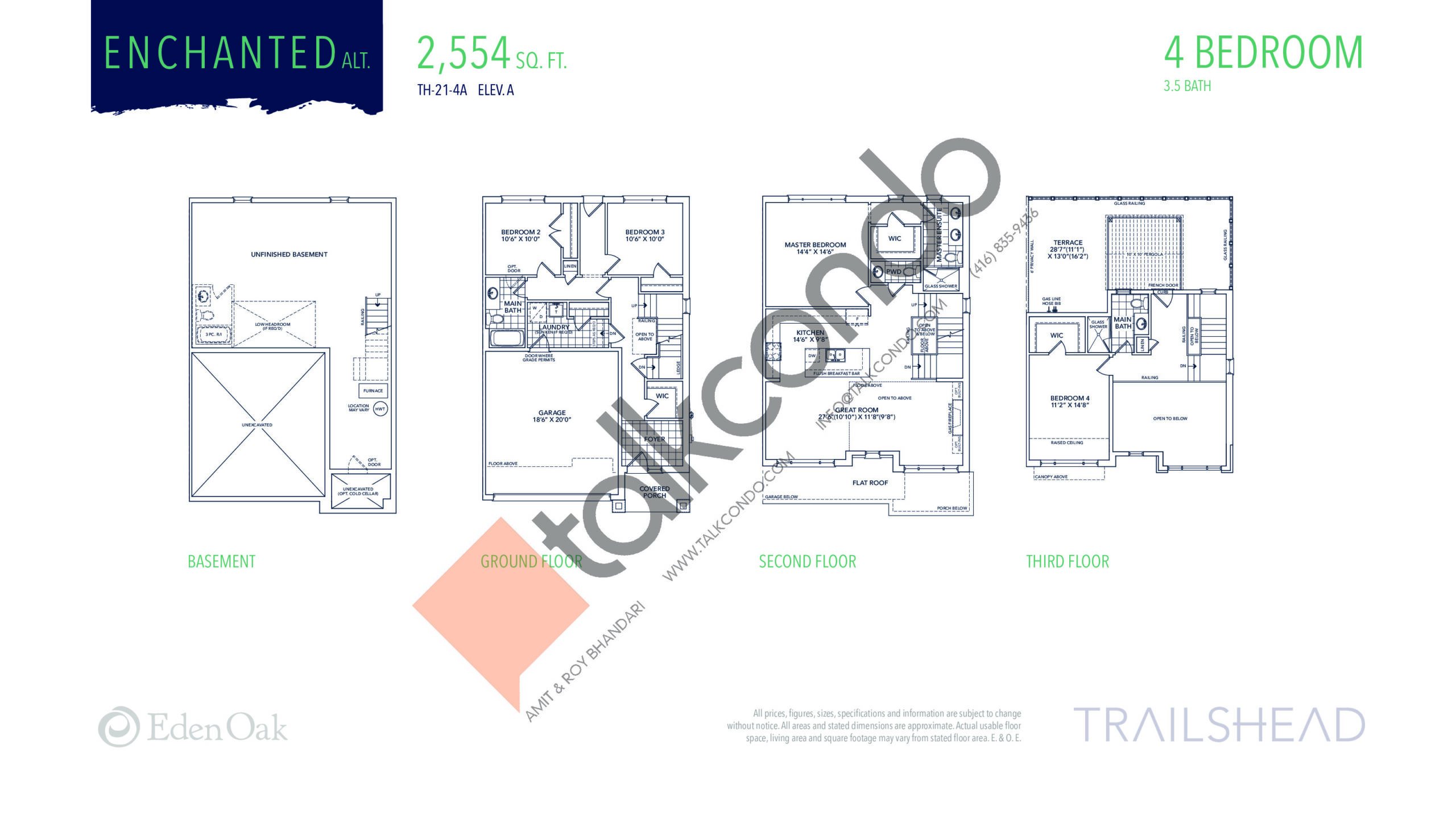 Enchanted Alt. (1/2) Floor Plan at Trailshead Towns - 2554 sq.ft