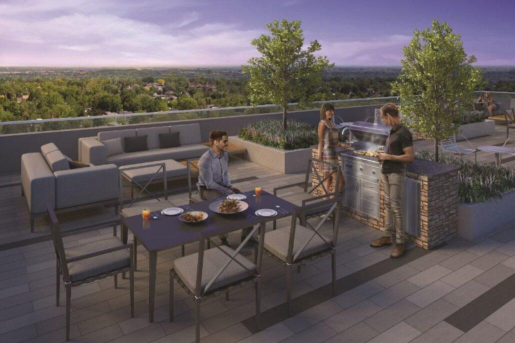 Art on Main Condos Terrace Lounge