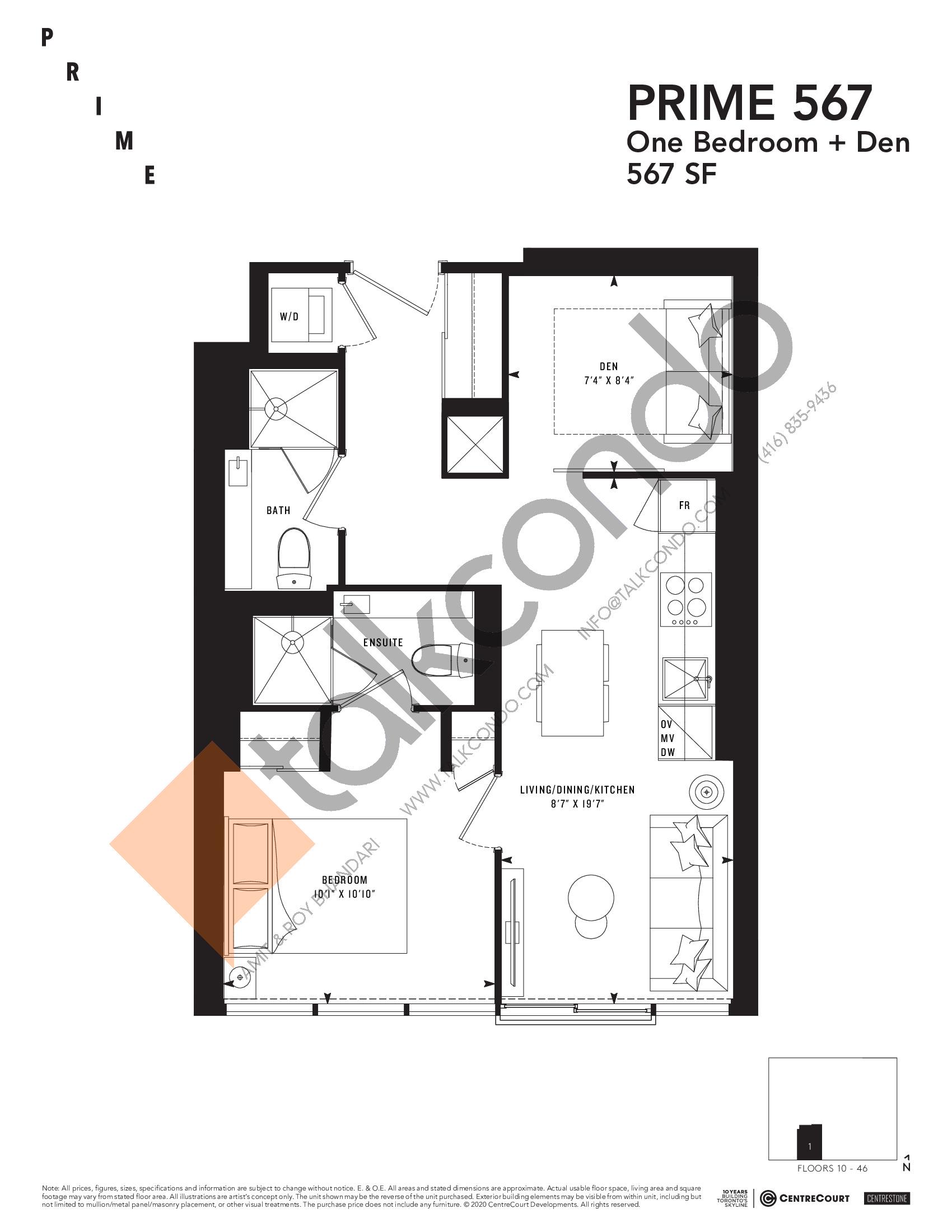 PRIME 567 Floor Plan at Prime Condos - 567 sq.ft
