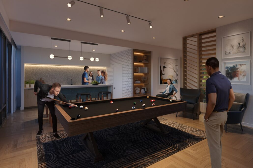 Kindred Condos Game Room
